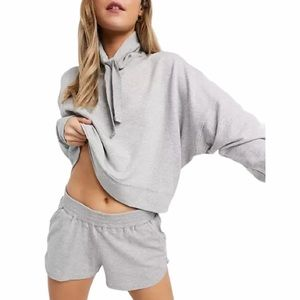 Free People Movement Lara pullover in gray combo